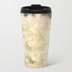 White Hydrangeas Metal Travel Mug