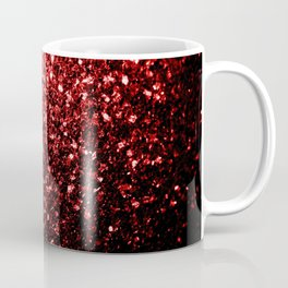 Beautiful Glamour Red Glitter sparkles Coffee Mug