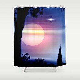 Roter Horizont. Shower Curtain