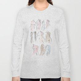 sweet female shapes Long Sleeve T-shirt