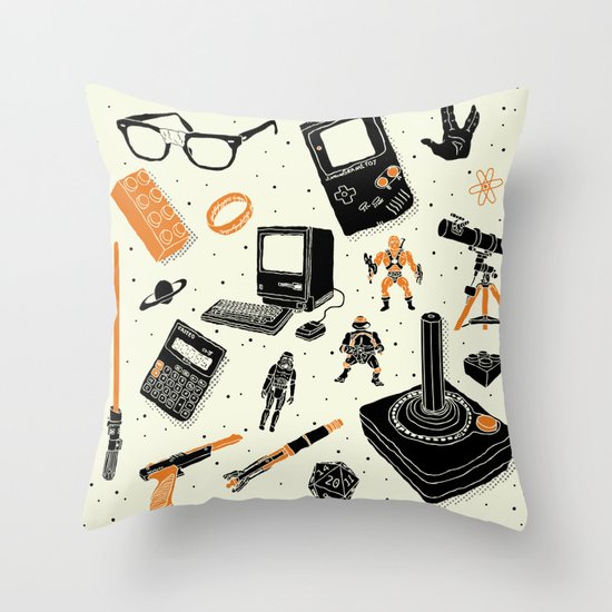 Nerd Life Throw Pillow
