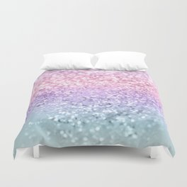 Unicorn Girls Glitter #1 #shiny #pastel #decor #art #society6 Duvet Cover