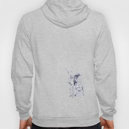 wine and dine sketch Hoody
