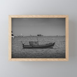 The old fisherman boat Framed Mini Art Print