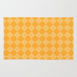 Yellow plaid Rug
