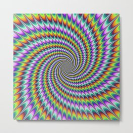Dizzy Swirl Metal Print