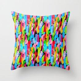 Abstract Brushstrokes - Black Throw Pillow