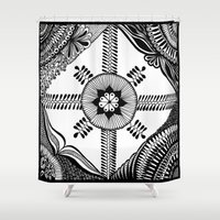 square Shower Curtains featuring Square by BIBA BIBA