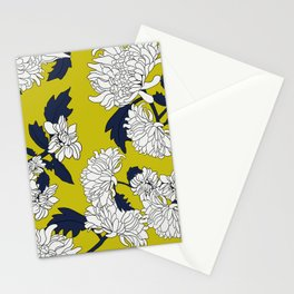Yellow paeony Stationery Cards