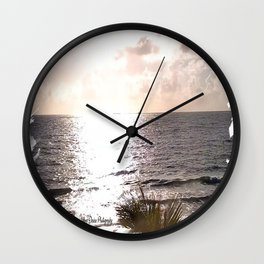 Sunrise at Lauderdale-By-The-Sea Wall Clock