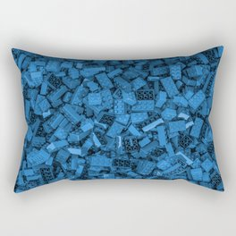 Master builder Blue Rectangular Pillow