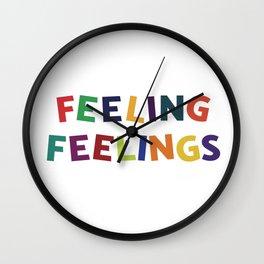Feeling Feelings Wall Clock