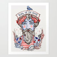King of the Seas Art Print