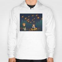 destiel Hoodies featuring starry pond by noCek