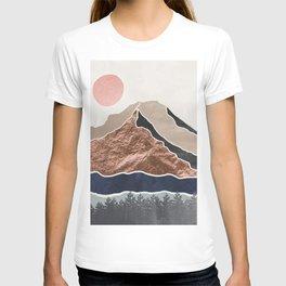 Mount Hood // Daylight Art Print Oregon Stratovolcano Rose Gold Silver Blue Cream Black Mountain T-shirt