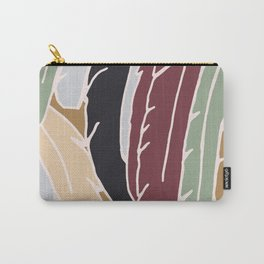 Modern Feathers Earth Tones Carry-All Pouch