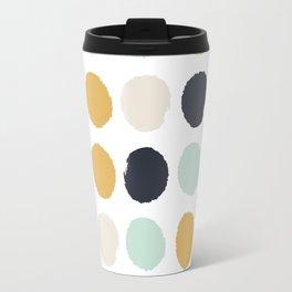 Tinsley - painted dots polka dots minimalist decor nursery gold navy Travel Mug