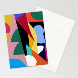 Abstract Colorful Mid Century Stationery Cards