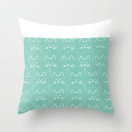 Black cats white cats Throw Pillow