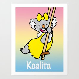 Koalita on the swing Art Print