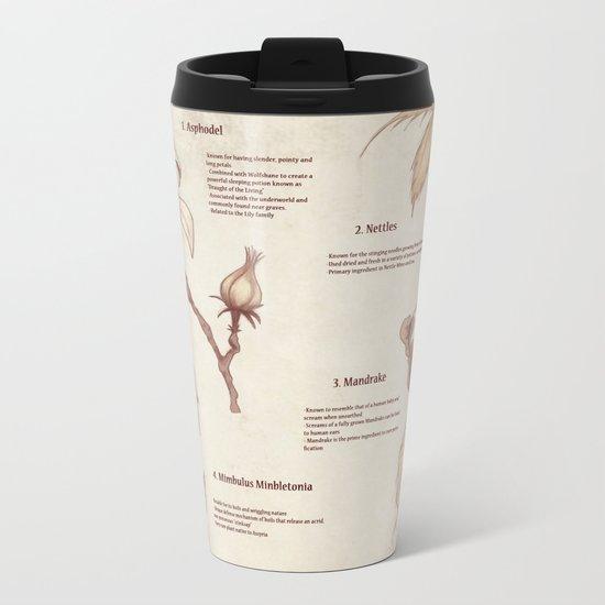 Herbology Reference Chart (Hogwarts) Metal Travel Mug