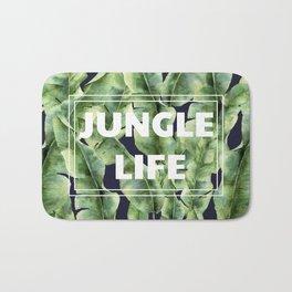 JUNGLE LIFE-banana leaves Bath Mat