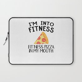 Funny Pizza Fitness Foodie Workout Gift Laptop Sleeve