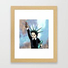 Wednesday Liberty Framed Art Print
