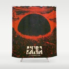 AkiraCyberpunk city explosion Shower Curtain