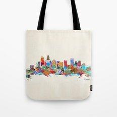 Charlotte North Carolina skyline Tote Bag