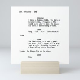 Notting Hill Screenplay Mini Art Print