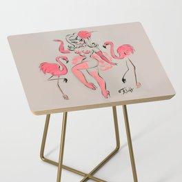 Flamingo Showgirl Side Table