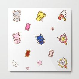 cardcaptor sakura cute stuff pattern Metal Print