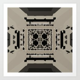 Beige and Black Perspective Art Print