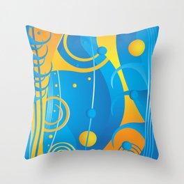 Abstract vector Throw Pillow