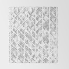 Abstract Leaf Pattern in Gray Throw Blanket