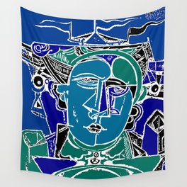 Blue Seaman Wall Tapestry