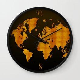 MODERN GRAPHIC ART World Map |  Redgold Wall Clock