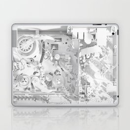 White Gears Laptop & iPad Skin