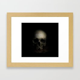 Male skull Framed Art Print
