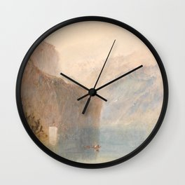 "J.M.W. Turner ""Tell's Chapel, Lake Lucerne"" Wall Clock"