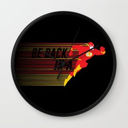 Be Back in a Flash Wall Clock