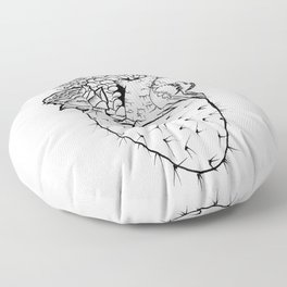 Succulent Heart Floor Pillow