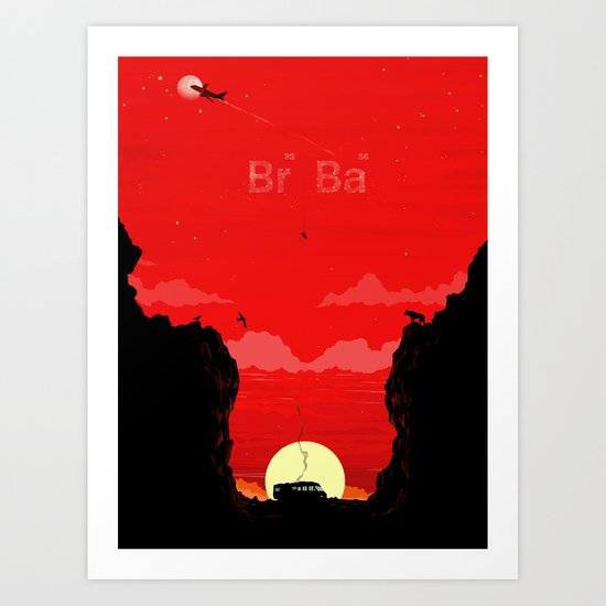 Break Bad - The Desert Art Print