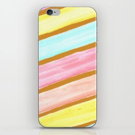 Retro Watercolor Stripes  iPhone Skin