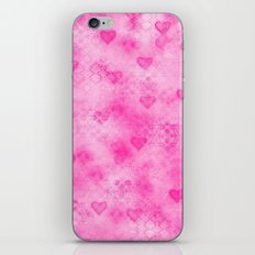Pink Hearted iPhone & iPod Skin