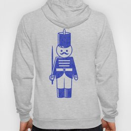 French toy soldier with sword, drawing with letterpress effect. Hoody