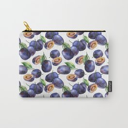 Plums on White Background Carry-All Pouch