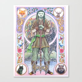 The Green Knight Canvas Print