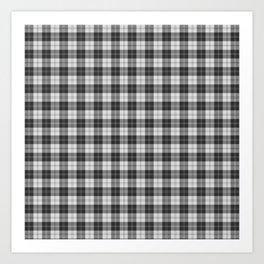 Clan Erskine Tartan // Black & White Art Print